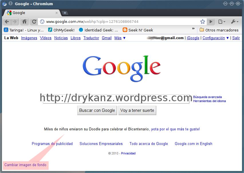 cambiar el fondo de pantalla de google drykanz