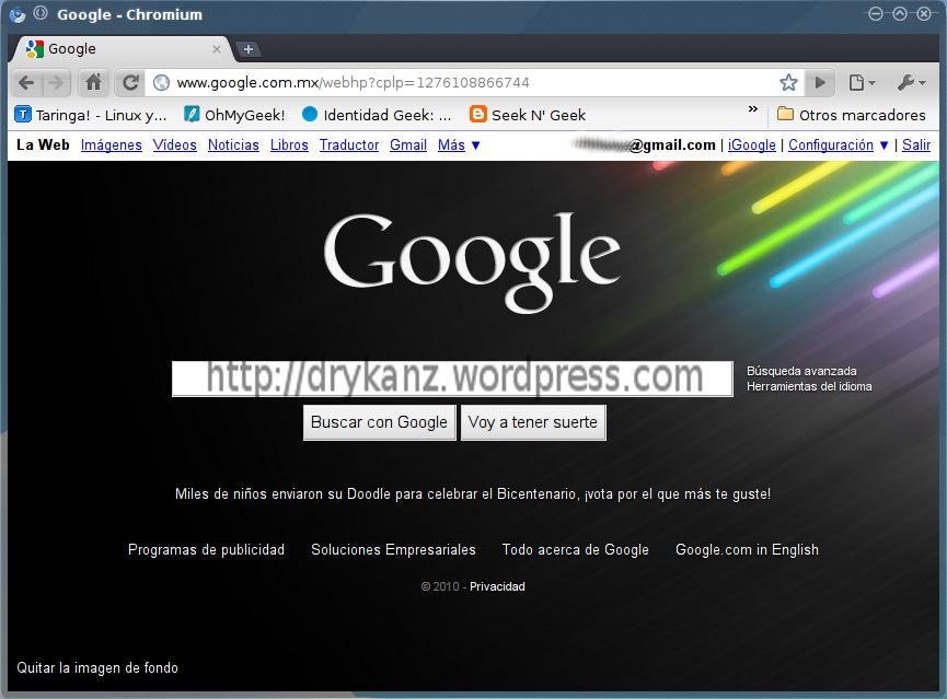 cambiar el fondo de pantalla de google un blog de todo
